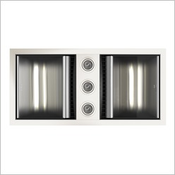 IXL - Neo Tastic Double - Bathroom Heat Lamp with Exhaust Fan Colour: Silver - Bathroom Exhaust Fans & Heaters