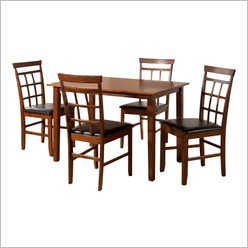 Furniture Essentials - Bude 5 Piece Dining Set Colour: Oak - Dining Sets