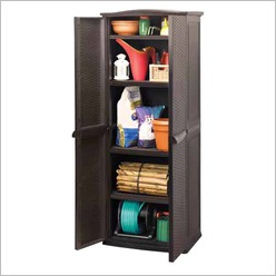Keter - Utility Rattan Cabinet in Espresso Brown - Sheds