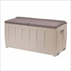 Keter - Storage Box with Seat in Taupe / Beige - Benches