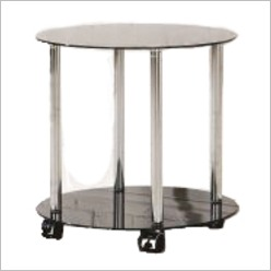 Furniture Essentials - Millennium Circular Side Table in Black - Side/End Tables