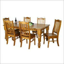 By Designs - Forest 180 x106 Seven Piece Dining Suite in Blackwood - Dining Sets