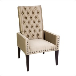 CAFE Lighting - Salon Chair in Taupe - Guest & Reception Seating