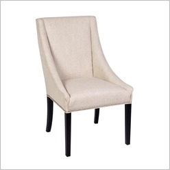 CAFE Lighting - Meridian Chair in Linen - Guest & Reception Seating
