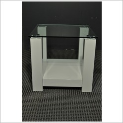 By Designs - Winnie White High Gloss Side Table Colour: White - Office Tables