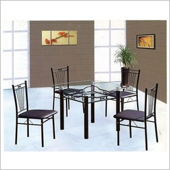 Cooper - Anna Glass 6 Seat Dining Set Colour: White - Dining Sets
