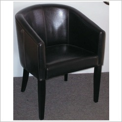 By Designs - Tub Chair by Cast Leather in Brown - Living Room Chairs