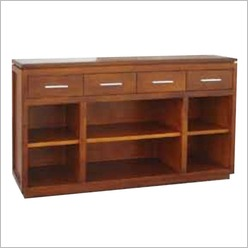 Bay Street - Casino Hall Table with 4 Drawers Colour: Warm Walnut - Hall Trees, Tables & Stands
