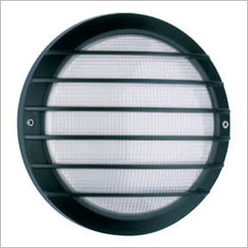 Boluce - Laser Round Outdoor Wall Light with Grille Finish: Silver, Globe Type: 2 x 9W TC G23 - Exterior Lighting