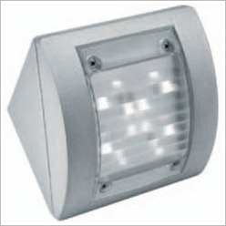 Boluce - Intro Square Angled Outdoor Wall Light Finish: Silver - Exterior Lighting