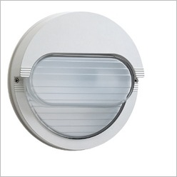 Boluce - Rem Round Bunker Light with Horizontal Eyelid Finish: Black, Globe Type: 1 x 26W TC-D G24 - Exterior Lighting