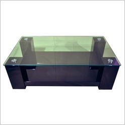 By Designs - Black Winnie Rectangular Coffee Table in High Gloss Black Colour: Black - Office Tables