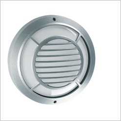 Boluce - Rem Round Bunker Light with Grille Finish: Silver, Globe Type: E27 - Exterior Lighting