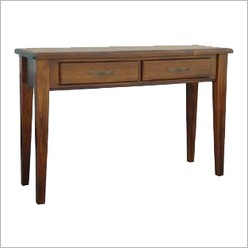 Bay Street - Morwell 2 Drawer Hall Table in Rough Sawn - Hall Trees, Tables & Stands