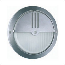 Boluce - Ipse Round Outdoor Wall Light with Eyelid Finish: Silver, Globe Type: 1 x 26W TC-D G24 - Exterior Lighting