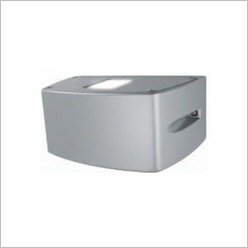 Boluce - Mini Outdoor Wall Luminaire with Tempered Glass Finish: Silver - Exterior Lighting