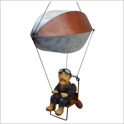 Boyle - Small Blimp Pedal Power Flying Machine - Hangings, Chimes, Bells & Gongs