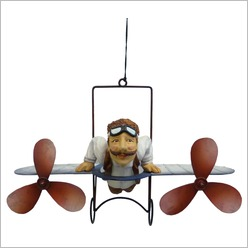 Boyle - Small Dbl Prop Glider Flying Machine - Hangings, Chimes, Bells & Gongs
