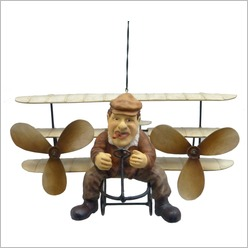 Boyle - Small Tri Wing Flying Machine - Hangings, Chimes, Bells & Gongs