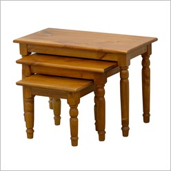 By Designs - Chan Nest of Tables with Colonial Legs in Blackwood - Side/End Tables