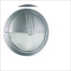 Boluce - Laser Round Outdoor Wall Light with Eyelid Finish: White, Globe Type: 1 x 26W TC-D G24 - Exterior Lighting