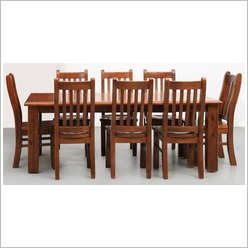 By Designs - Canterbury 9 Piece Dining Set Size: 210cm x 105cm - Dining Sets