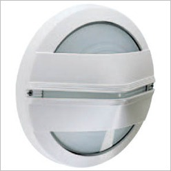 Boluce - Astra Round Outdoor Wall Light with Centre Covers Finish: Silver, Globe Type: 2 x 9W TC G23 - Exterior Lighting