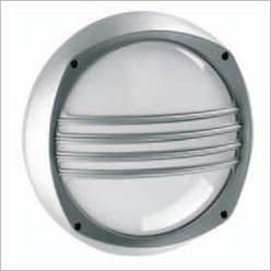 Boluce - Lem Round Bunker Light with Grille Finish: Silver, Globe Type: 2 x 9W TC G23 - Exterior Lighting