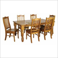 Bay Street - Rebecca 7 Piece Dining Set Colour: Blackwood - Dining Sets