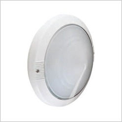 Boluce - Astra Round Outdoor Wall Light Finish: Silver, Globe Type: 2 x 9W TC G23 - Exterior Lighting