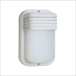 Boluce - K90 Rectangular Outdoor Wall Light with Vertical Eyelid Finish: White, Globe Type: 1 x 60W E27 - Exterior Lighting