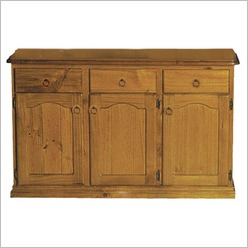 Bay Street - Rebecca 3 Door 3 Drawer Buffet Colour: Blackwood - Buffets & Sideboards