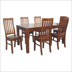 Bay Street - Casino 7 Piece Dining Suite Colour: Mountain Ash - Dining Sets