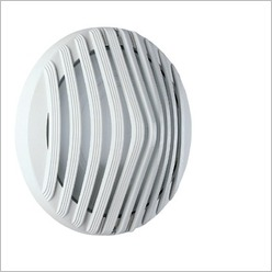 Boluce - Astra Round Outdoor Wall Light with Full Grille Finish: White, Globe Type: 2 x 9W TC G23 - Exterior Lighting