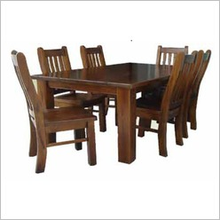 Bay Street - Spring 9 Piece Dining Set Table length: 2.1m - Dining Sets