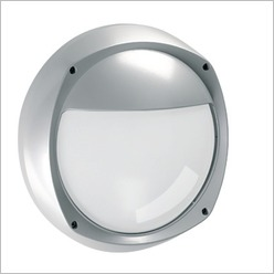 Boluce - Lem Round Bunker Light with Eyelid Finish: Black, Globe Type: 2 x 9W TC G23 - Exterior Lighting