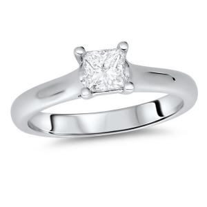0.50ct Engagement Ring Size N Princess Cut Diamond in 18ct WG