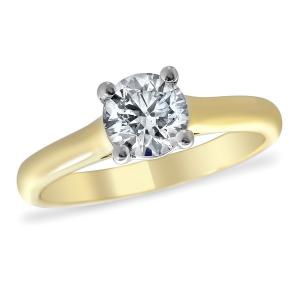 0.50ct Engagement Ring Size P Diamond Claw Set in 18ct YG