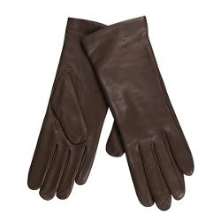 Cire by Grandoe Melody Gloves - Italian Leather-Cashmere (For Women) - BROWN ( 6.5 )