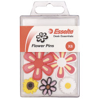 Esselte Novelty Push Pins Flowers 8 Pack