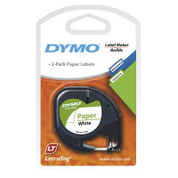 Dymo Letratag White Paper Tape 2 Pack