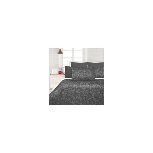 Chatsworth Grey Jacquard Quilt Cover Set - King Bed