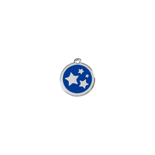Stainless Steel ID-Tag Star Navy MED