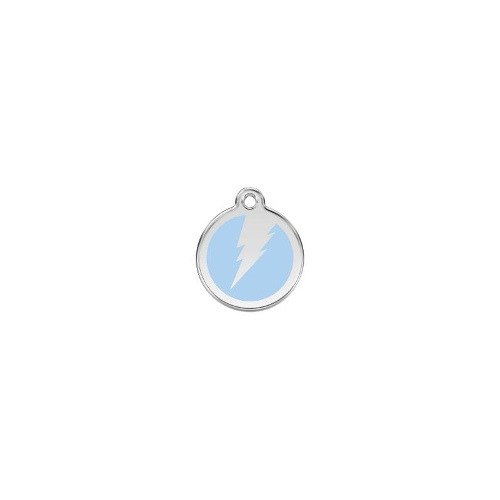 Stainless Steel ID-Tag Flash Light Blue MED