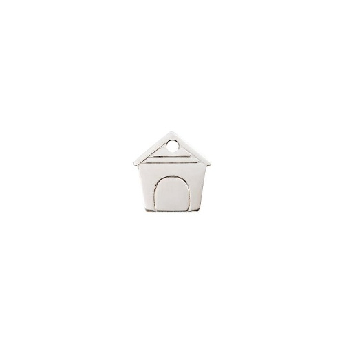 Dog House Flat Stainless Steel ID-Tag MED