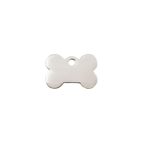 Bone Flat Stainless Steel ID-Tag LGE