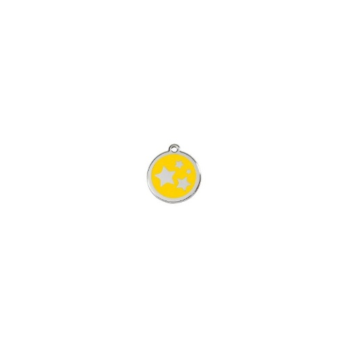 Stainless Steel ID-Tag Star Yellow SML