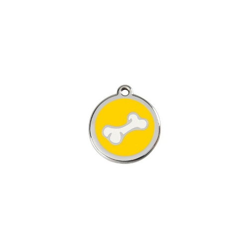 Stainless Steel ID-Tag Cartoon Bone Yellow LGE