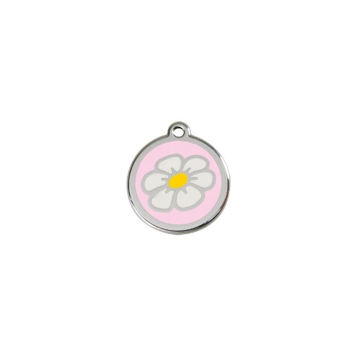 Stainless Steel ID-Tag Daisy Pink LGE
