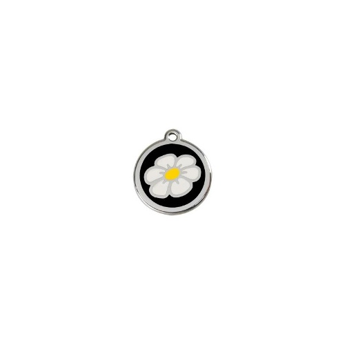 Stainless Steel ID-Tag Daisy Black MED